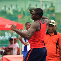 Mustafa Fall won gold in the shotput event