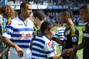 Ashley Cole with Anton Ferdinand