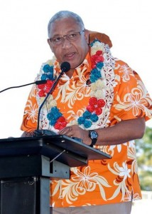 Commodore Voreqe Bainimarama at Fiji FACT