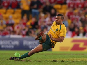 Kurtley Beale slips