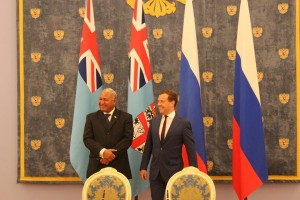 commodore voreqe bainimarama with russia pm in russia 2