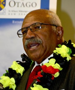 Sitiveni Rabuka at the Otago University Foreign Policy school in Dunedin this weekend