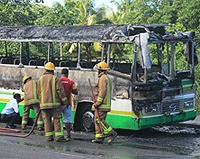 bus fire laqere
