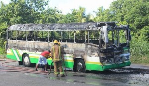 bus nasese burnt