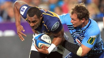Brumbies centre Tevita Kuridrani on the charge against the Bulls during their Super Rugby semi-final clash at Loftus Versfeld Stadium in Pretoria. Picture: Themba Hadebe Source: Getty Images