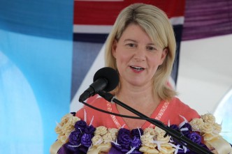 Australia's Ambassador for Women and Girls Natasha Stott Despoja announcing FCDP's extension for two more years.